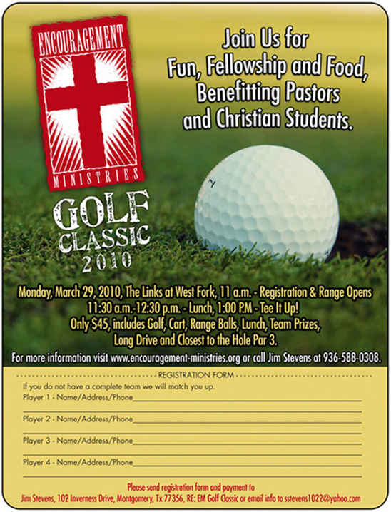 charity golf tournament design